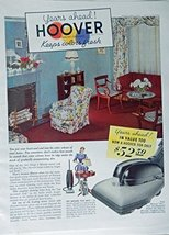 Hoover, 30's Print ad. Color Illustration (living room) Authentic original, V... - $12.86