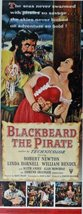 Blackbeard The Pirate, original movie poster, 50's Print Ad. Color Illustrati... - $12.86