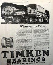 "timken Bearing, 1918 full page B&W Illustration, 8 1/2"" x 11"" Print Ad. ... - $12.86"