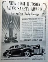 "1941 Hudson, 40's Full Page B&W Illustration, 10 3/4"" x 13 1/2"" Print Ad... - $12.86"