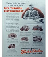 Black and Decker Tools, 40's Full Page Color Illustration,print art, (bu... - $12.86