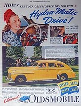 1941 Oldsmobile $852, 40's Print ad. Full Page Color Illustration (Hydra... - $13.85