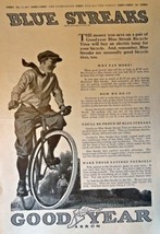 "Good Year Akron, 1917 Full Page B&W Illustrations, 11"" x 16"" Print Ad. (... - $14.84"