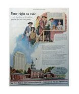 The Penn Mutual Life Insurance Company, 50's Full Page Color print ad. I... - $13.85