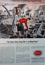 "Standard Protection Insurance, 50's full page Color Illustration, 8 1/4"" x 11... - $12.86"