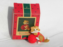 "1985 Hallmark Ornament ""Kitty Mischief"" Cat playing with a Ball of Yarn - $4.99"