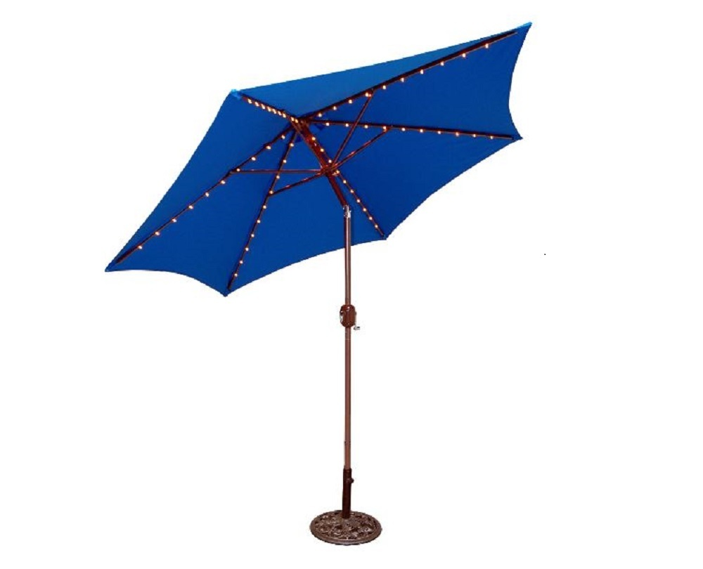 Patio umbrella w led light