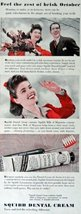 "Squibb Denal Cream, Print advertisment. 40's color Illustration, 5 1/2"" x 13 ... - $11.87"