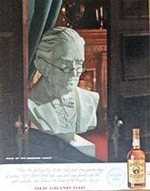 Old Grand Dad Whiskey, 40's Print ad. Full Page Color Illustration (every gol... - $12.86
