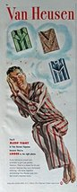 Van Heusen, 40's Print ad. Color Illustration (sleep tight) Original Vintage ... - $11.87