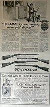 "Winchester Guns,Churn and Mixer, 1917 B&W Illustrations, 8"" x 15"" Print ... - $13.85"