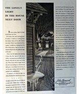 "John Hancock Insurance, 40's Print Ad. B&W Illustration 10 1/2"" X 13 1/2... - $12.86"