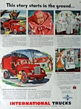 1948 International Trucks, Print advertisment. 40's Color Illustration, ... - $13.85
