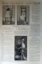 "Children's Page, March 6,1913 #125 The Youth's Companion 10 1/2"" x 16"" B&W Il... - $14.84"