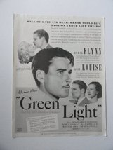 Green Light, [movie poster], 30's Print Ad. Full Page B&W Illustration (Errol... - $14.84