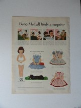Betsy McCall Patterns, 50's Print Ad. Full page Color Illustration, painting ... - $13.85