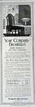The Quaker Oats Company - Sole Makers, 1916 Print Advertisment. B&W Illu... - $12.86