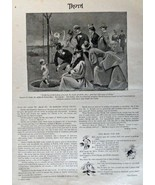"Nechsler, 1884-- 10"" x 13 1/2"" B&W Painting, Illustration, Print art (Wa... - $17.81"