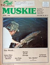 "Rick Hartz, Muskie magazine cover art [cover only] Color Illustration 8""... - $14.84"