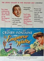 The Emperor Waltz, original movie poster, 40's Print Ad. Color Illustration (... - $14.84
