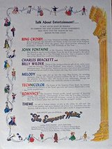 The Emperor Waltz,Original Movie Poster 40's Print Ad. Full Page Color Illust... - $13.85