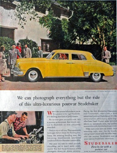 "Primary image for 1947 Studebaker, 40's Print Advertisment. Color Illustration, 10 1/2"" X 13 1/..."