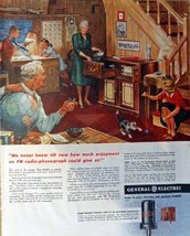 "General Electric Radio, 40's Print Ad. Color Illustration 10 1/2"" X 13 1/2"" P... - $15.83"