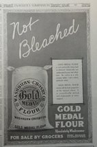 """Gold Medal Flour, 1913 B&W Illustration, 8"""" x 11"""" Print Ad. (absolutely ... - $14.84"""