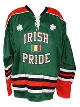 Custom Name # Irish Pride Ireland Lucky Hockey Jersey New Green Any Size image 3
