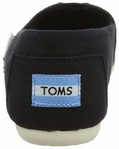 NEW TOMS Women's Classic Solid Black Canvas Slip On Flats Shoes NWOB image 5