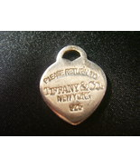 Vintage Return To Tiffany & Co. 925 Sterling Silver Heart Pendant Charm - $25.00