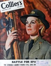 "Collier's magazine cover art [cover only] Color Illustration 10 1/2"" x 1... - $15.83"
