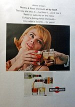 "Martini & Rossi Vermouth, full page Color Illustration, 10 1/2"" x 13 1/2"" Pri... - $12.86"