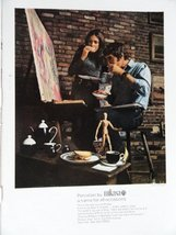 """Porcelain by Mikasa, 70's Color Illustration/Painting, Print Ad. 8 1/2""""x... - $12.86"""