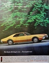 "1966 Oldsmobile Toronado, full page Color Illustration, 10 1/2"" x 13 1/2"" Pri... - $13.85"