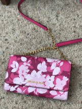 NWT Michael Kors Jet Set Travel Large Phone Crossbody Bag Granita Pink $198 NEW - $79.19