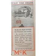 McKay Tire Chains, Print Ad. 20's Color Illustration (U.S. Chain) Origin... - $12.86