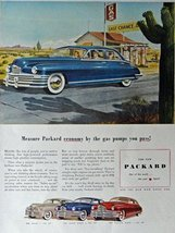 1948 Packard, 40's Print Ad. Color Illustration (Beautiful Cars) Origina... - $13.85