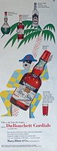 DuBouchett Sloe Gin, 50's Print ad. Color Illustration (samovair vodka)Origin... - $12.86
