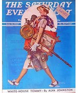 Norman Rockwell, Color Illustration, Print art, Oringial Vintage, July 3... - $16.82