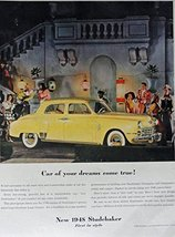 1948 Studebaker, 40's Print Ad. Full Page Color Illustration (Car of you... - $13.85