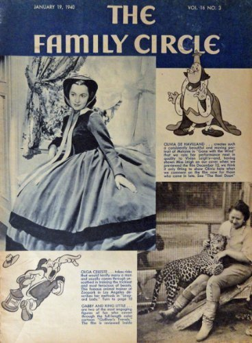 Primary image for Olivia De Havilland, The Family Circle 1940 [cover only], Illustration, Print...