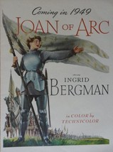 Joan of Arc, original movie poster, 40's Print Ad. Color Illustration (Ingrid... - $16.82