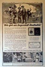 """Ingersoll Radiolite, 1917 Full Page B&W Illustrations, 11"""" x 16"""" Print A... - $14.84"""