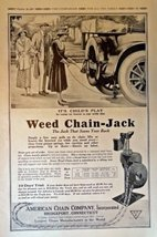 """Weed Chain Jack, 1917 Full Page B&W Illustrations, 11"""" x 16"""" Print Ad. (... - $18.80"""