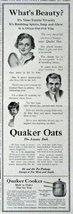 "Quaker Oats, 1916 Print Advertisment. B&W Illustration, 5 1/2"" X 15"" Pri... - $12.86"