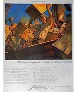 John Hancock Life Insurance, 40's Print ad. Color Illustration (Boston T... - $13.85