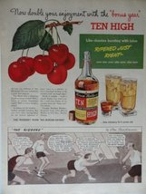 "Ten High Whiskey, 1942 Color Illustration,Print Ad. 10 1/2""x13 1/2""(glen... - $12.86"
