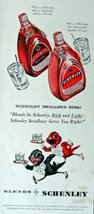 Schenley,black label, red label Whiskey, Print advertisment. 40's color Illus... - $11.87