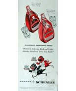 Schenley,black label, red label Whiskey, Print advertisment. 40's color ... - $11.87